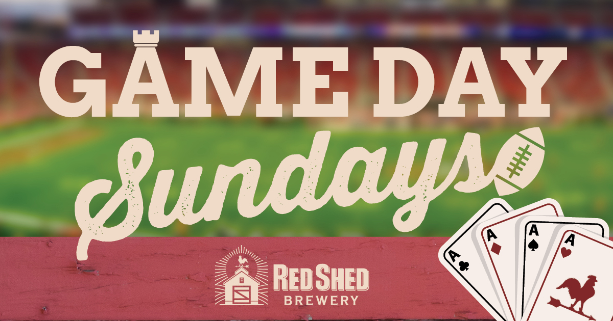 Game Day Sundays at Red Shed, Red Shed Brewing