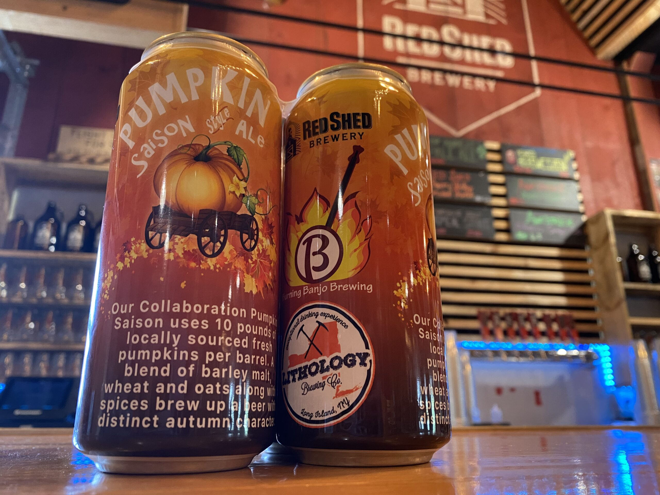 Pumpkin Saison-Style Ale, Red Shed Brewing